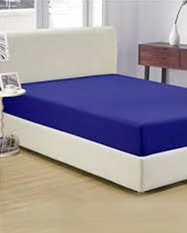 Jersey Fitted Bed Sheet - Blue