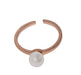 White Pearl Ring For Girls - Golden - Hiffey
