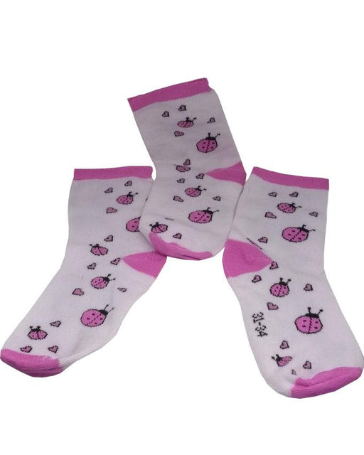 ladybug With Heat Printed Socks For Kids Pack Of 3