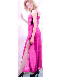 Bridal Night long Maroon Nighty for Women - Purple