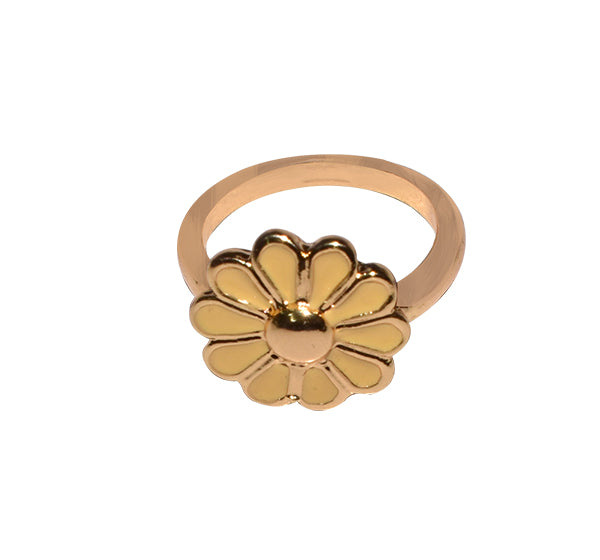 Sun Flower Ring For Girls - Golden - Hiffey