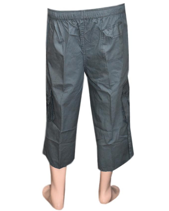 Men's Cotton Shorts - Dark Grey - Hiffey