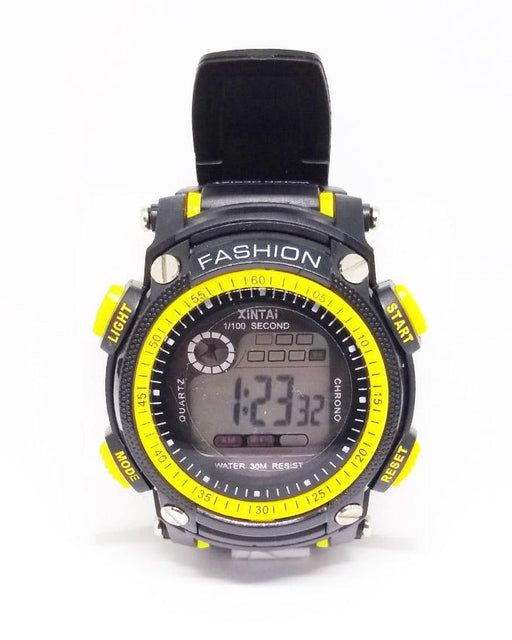 Cold Light Sport Watch With Light For Kids - Yellow - Hiffey