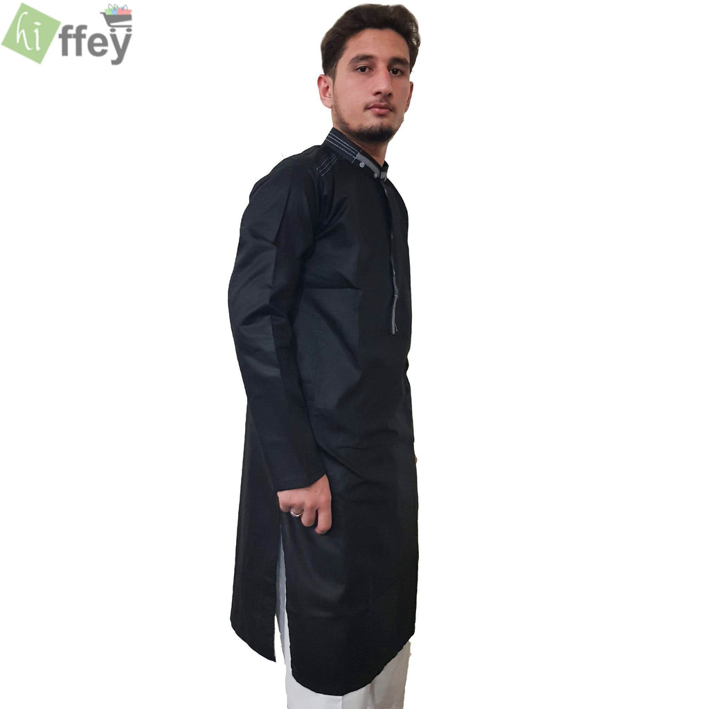 Stylish Black Kurta For Men - Hiffey