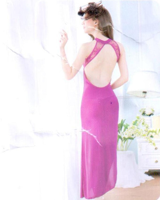 Stylish Purple Long Gown Style Nighty -1958 - Hiffey