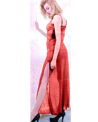 Bridal Night long Maroon Nighty for Women - Maroon