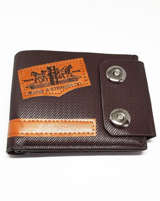 Double Clipper Wallet for Men - Dark Brown - Hiffey