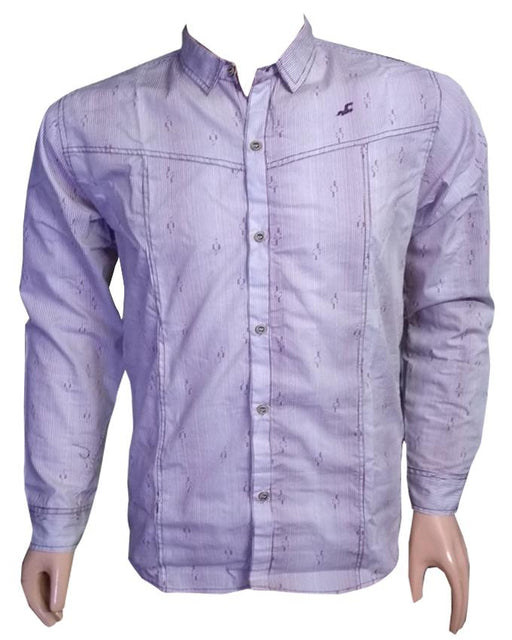 Purple Long Sleeves Casual Shirt - Hiffey