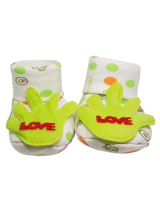 Newborn Baby Love Cotton Shoes - Green - Hiffey