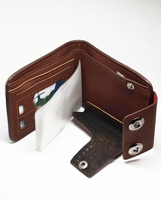 Double Clipper Bovi's Wallet for Men - Brown - Hiffey