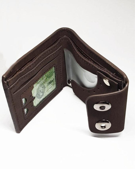 Double Clipper Fashion Unlimited Wallet for Men - Choco Brown - Hiffey