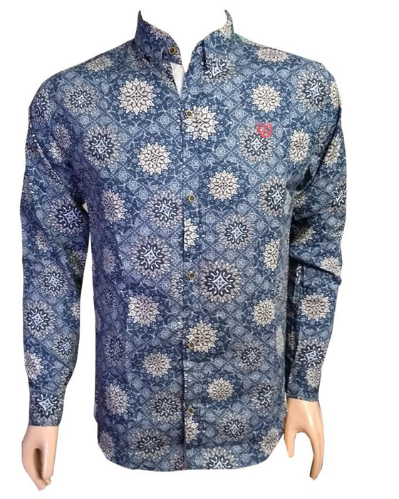 Geometry Design Long Sleeves Casual Shirt - Hiffey