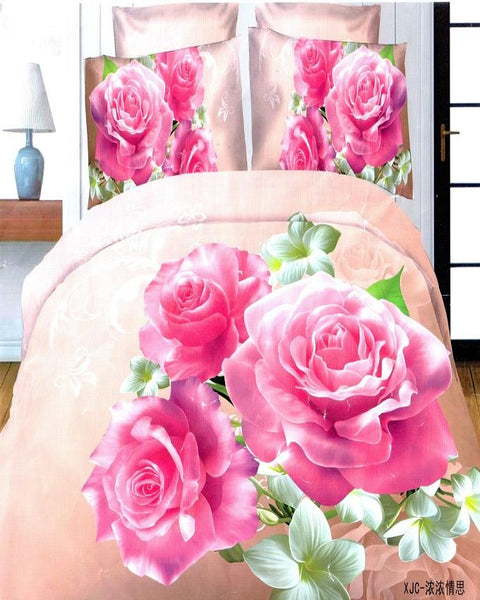 3D Bedsheet with 2 Pillow Covers