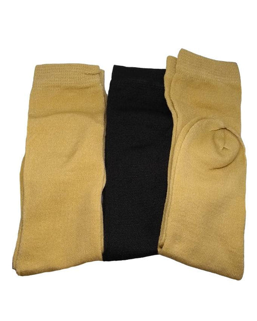 Ladies Skin & Black Socks Pack of 3 - Hiffey