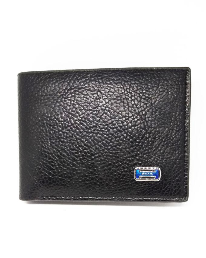 Bovis Helvetia Texture Artificial Leather for Men - Black