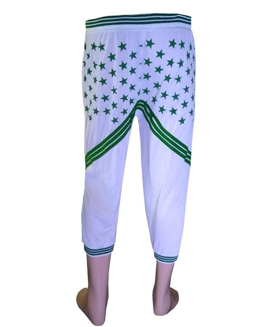 Independence Day Printed Trouser - White - Hiffey