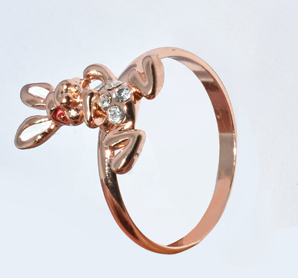 White Rabbit Alloy Ring For Girls - Golden - Hiffey