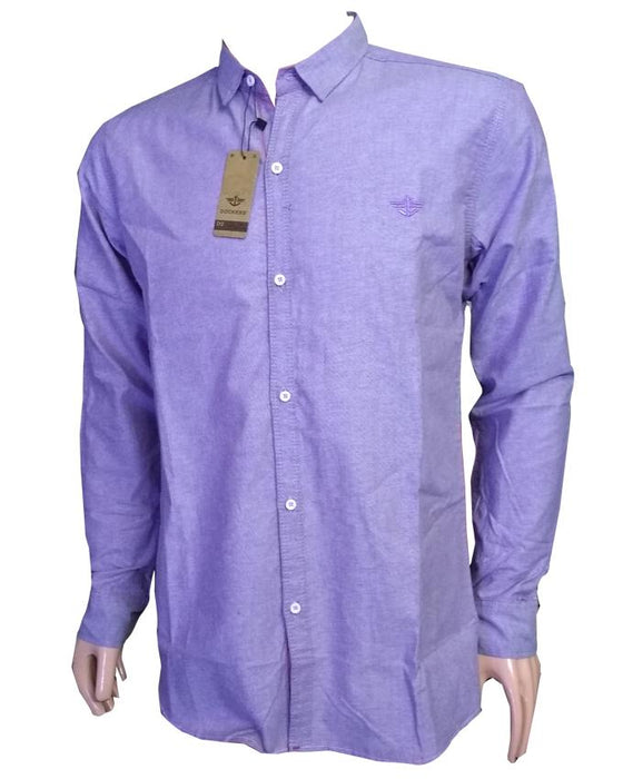 Dockers Casual Full Sleeves Shirts For Men - Purple - Hiffey