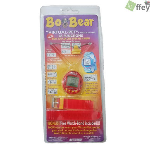 Bo-Bear Digital Locket Wrist Watch For Kids - Red - Hiffey