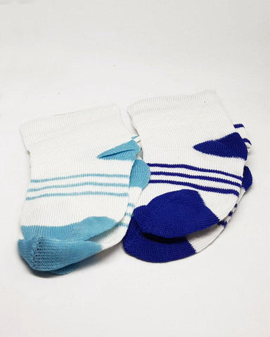 Baby Toddlers Socks Blue - Pack of 2