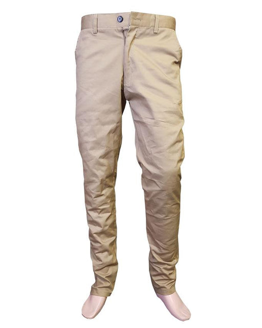 Men's Cotton Chino Pants Skin Brown Mustard Clothing - Hiffey