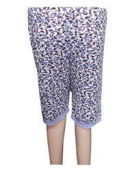 Printed Purple Printed Short Pyjama for Ladies