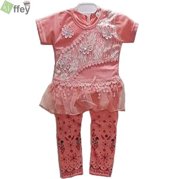 Mini Frock Style Pink Color For Baby Girl - Hiffey