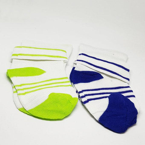Baby Toddlers Socks Green & Blue - Pack of 2