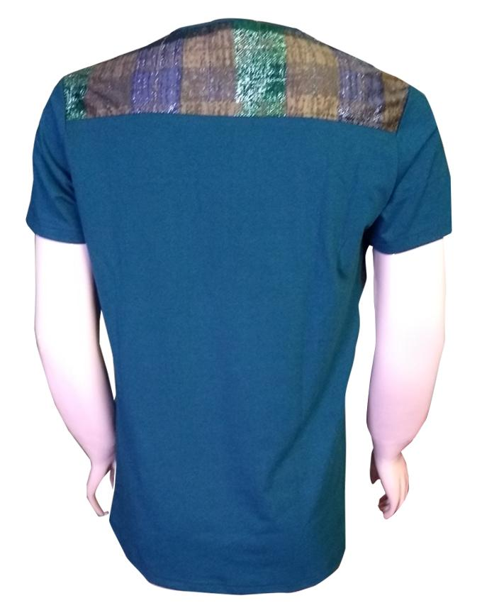 Men's Zipped T-Shirt Round Neck