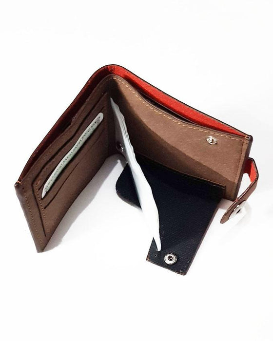 Single Clipper Center M Wallet for Men - Light Brown - Hiffey