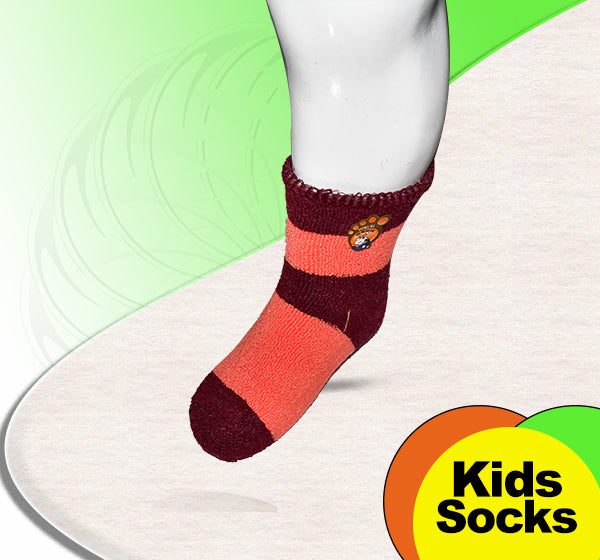Winter Thermal Warm Socks For Kids - Pink & Brown - Hiffey