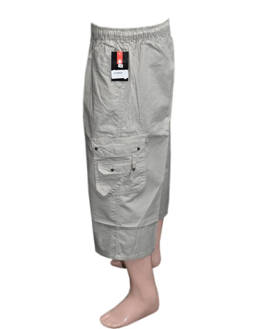 Men's Cotton Shorts - Off White - Hiffey