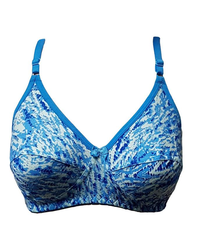 Bell Blue Cotton Non Padded Bra