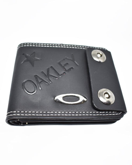Double Clip Mens Stylish Wallet Oakley - Black - Hiffey