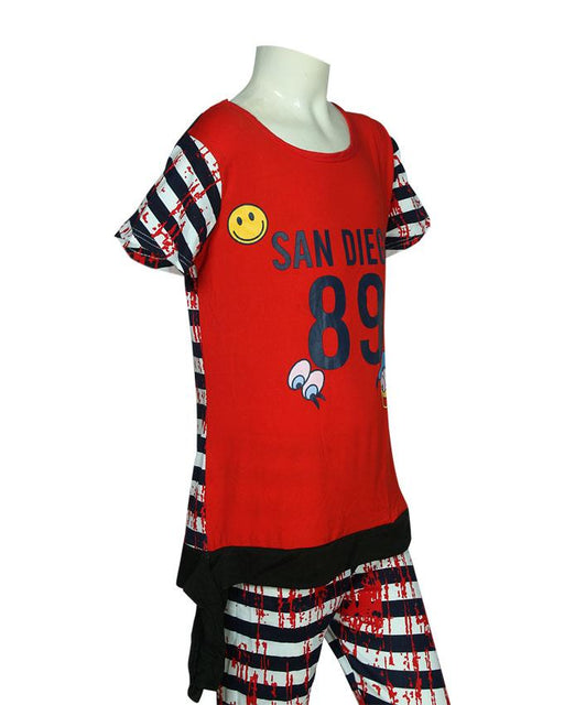 San Diego T-Shirt & Pajama-Red - Hiffey