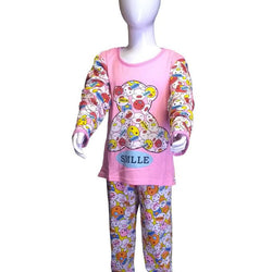 Smile love Pink Bear Night Suits