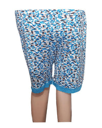 Printed Blue Printed Short Pyjama for Ladies