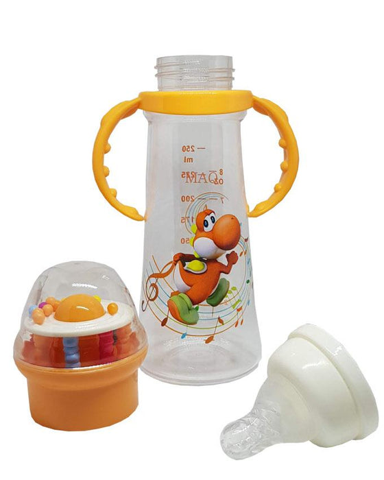 MAQ Baby Feeding Bottle 8 oz - Orange - Hiffey
