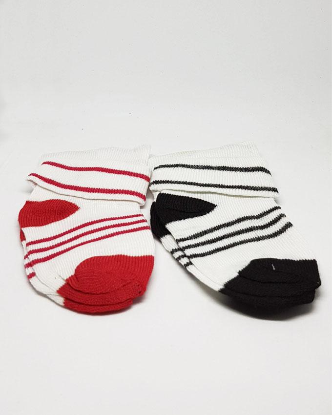 Baby Toddlers Socks Red and Black - Pack of 2