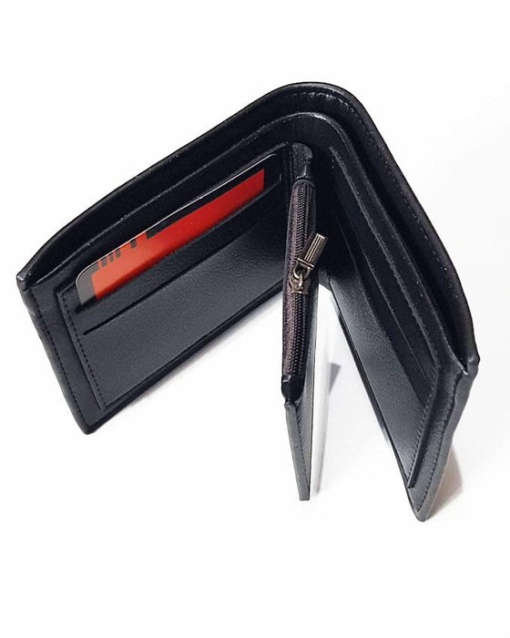 Men Balisi Embossed Triangle Style Wallet - Black - Hiffey