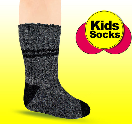 Winter Thermal Warm Socks For Kids - Black - Hiffey