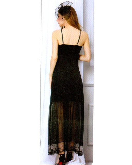 Black Long Nighty with Diamonds Front - 1903 - Hiffey