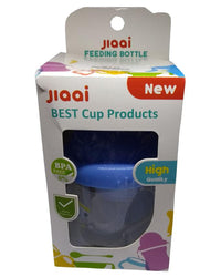 Jiaai Feeding and Drinking Cup - 3 in 1 - 7 oz - Blue