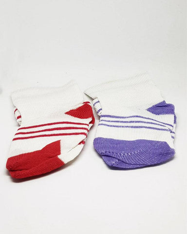 Baby Toddlers Socks Red and Purple - Pack of 2