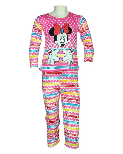 Pink Minnie Mouse Girls Night Suits - Hiffey