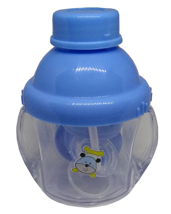 Jiaai Feeding and Drinking Cup - 3 in 1 - 7 oz - Blue - Hiffey