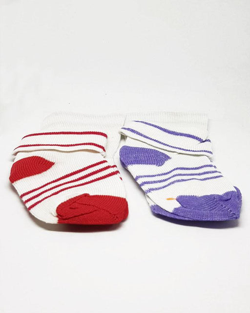 Baby Toddlers Socks Red and Purple - Pack of 2 - Hiffey
