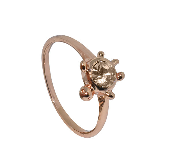 Turtle Style Golden Alloy Ring For Girls - Golden - Hiffey