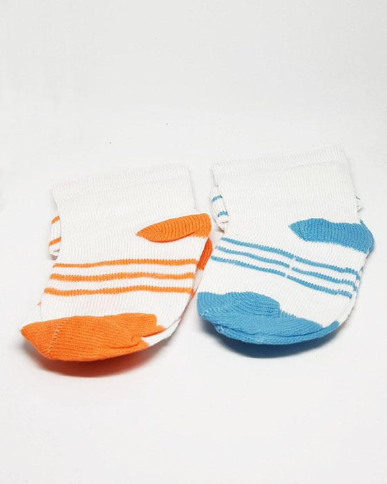 Baby Toddlers Socks Blue and Orange - Pack of 2 - Hiffey