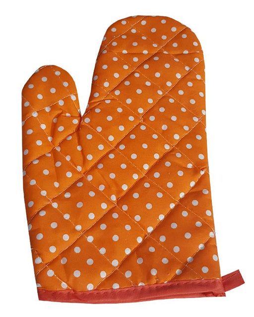 Polka Dots Orange Oven Glove - Hiffey